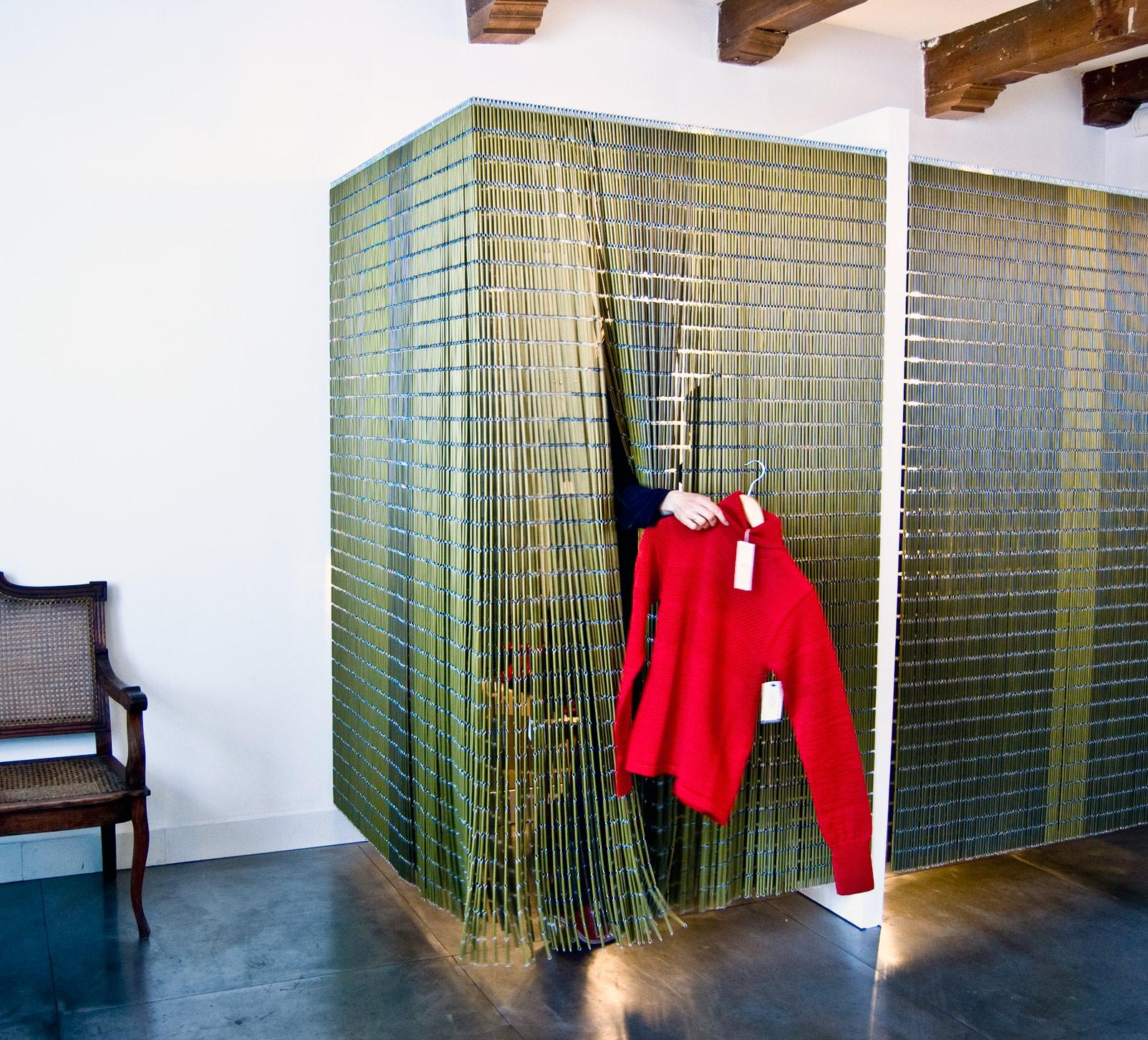 interieur ontwerp, zwevende kleedkamer