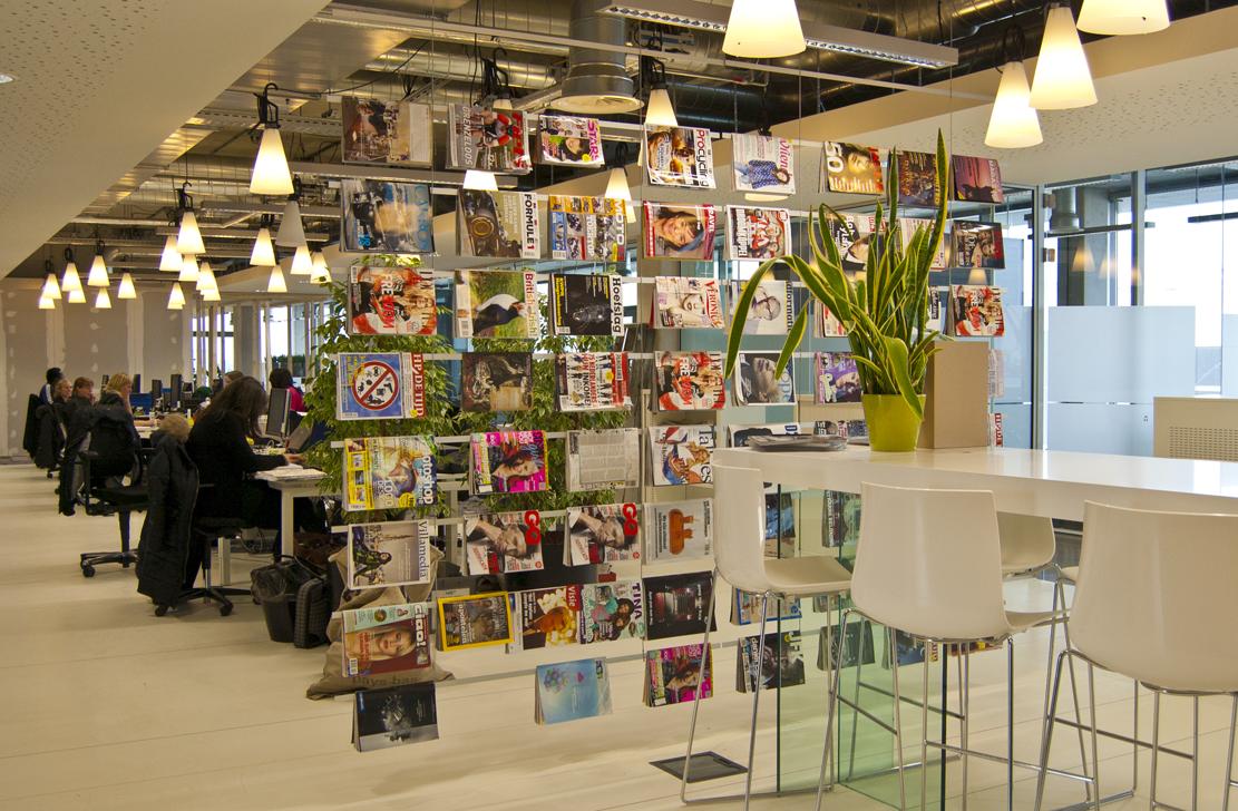 tijdschriftenrek, kantoor, scheidingswand, roomdivider, werkplek, akoestiek