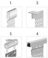 aluminium schakel gordijn