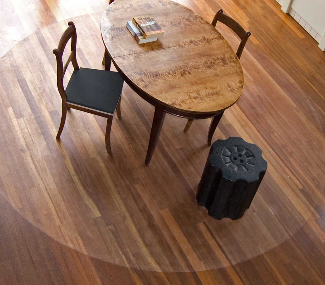 versleten houten vloer, optisch kleed, design thinking