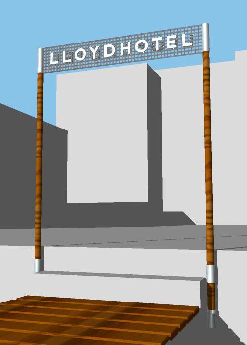 inspiratie 3D schets, lloyd pier