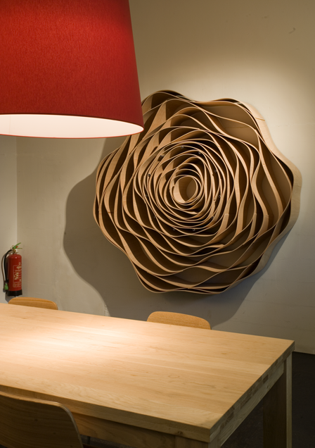 Wall art, wooden wall flower